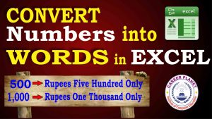 Convert Numbers into Words in Excel
