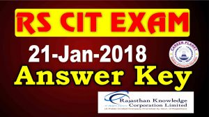 rscit answer key 21 January 2018
