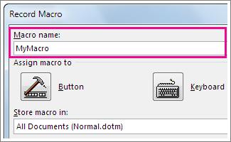 macro recording in Microsoft word