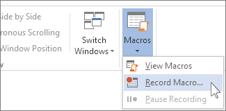 record macro in ms word
