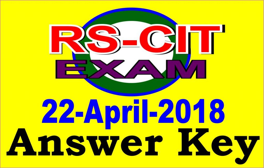 Rscit answer key 22 april 2018 career planet computer education rscit exam answer key 22 april 2018 malvernweather Gallery