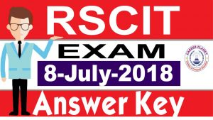 RSCIT answer key 8 July 2018