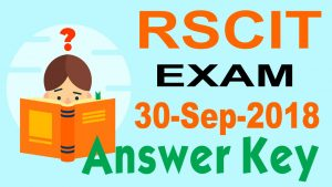 RSCIT Answer Key 30 September 2018
