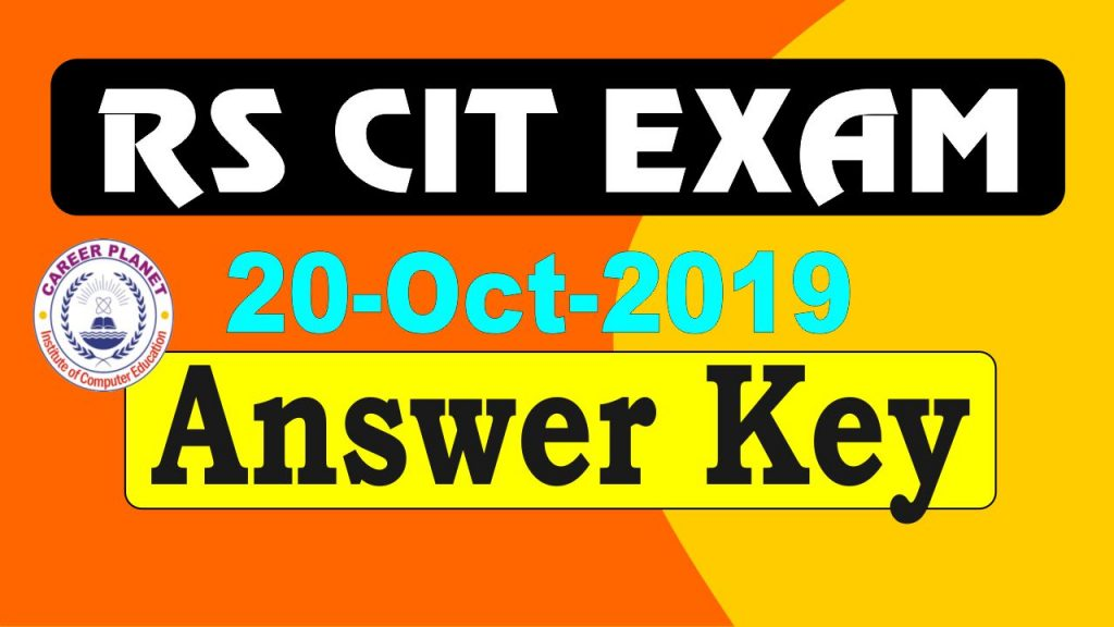 rscit answer key 20 October 2019