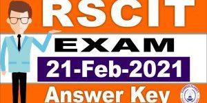 RSCIT Answer Key 21 Feburary 2021