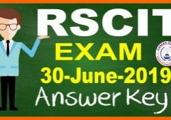 RSCIT Answer Key 30 June 2019