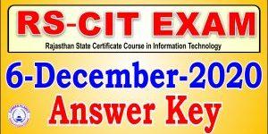 RSCIT Answer Key 6 December 2020