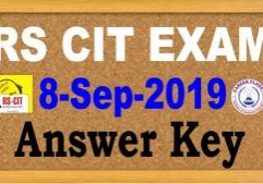 rscit answer key 8 September 2019