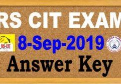rscit answer key 8 September 2019