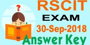 RSCIT Answer Key 30 September 2018
