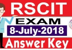 RSCIT answer key 8 July 2018