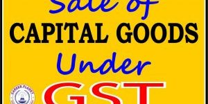 sale of capital goods under gst entries in Tally