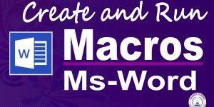 macros in Microsoft Word
