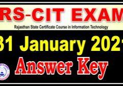 RSCIT Answer Key 31 January 2021