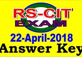 rscit exam answer key 22 April 2018