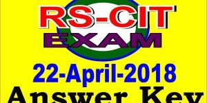 rscit exam answer key 22 April 2018
